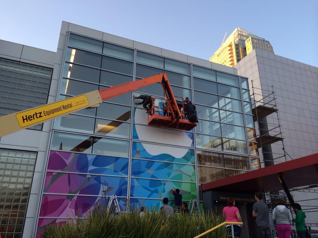 Yerba progredindo para o evento dos novos iPads