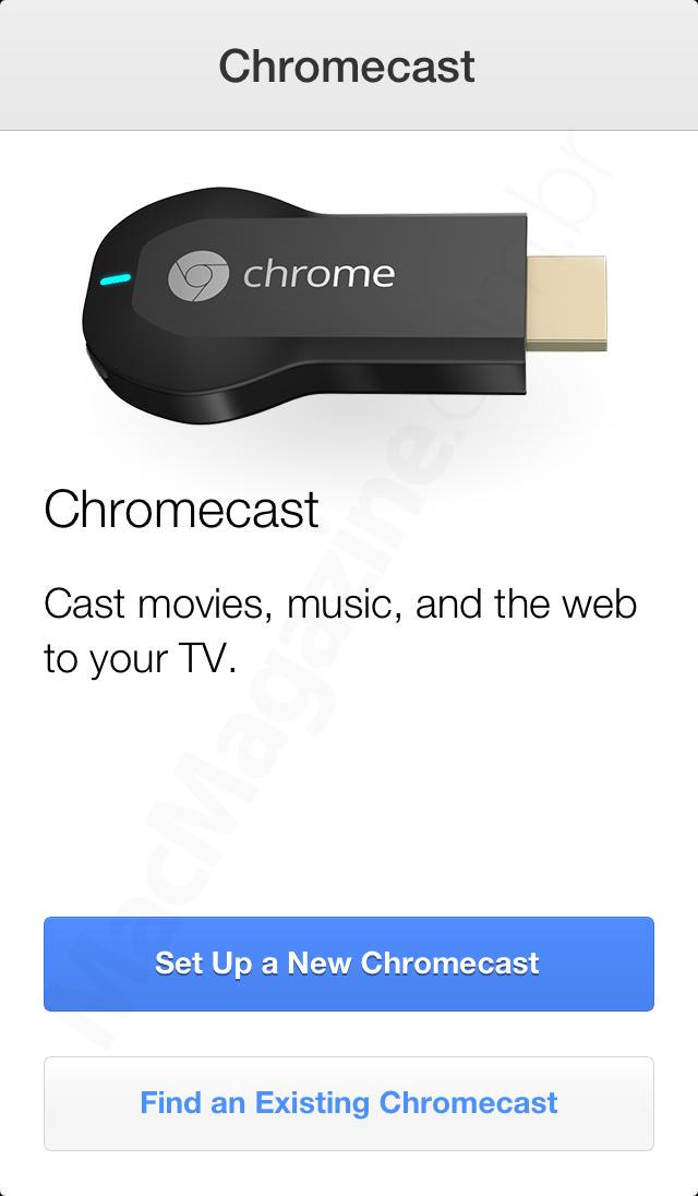 App Chromecast para iOS