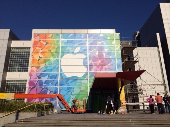 Decoração finalizada da Apple no Yerba Buena Center for the Arts