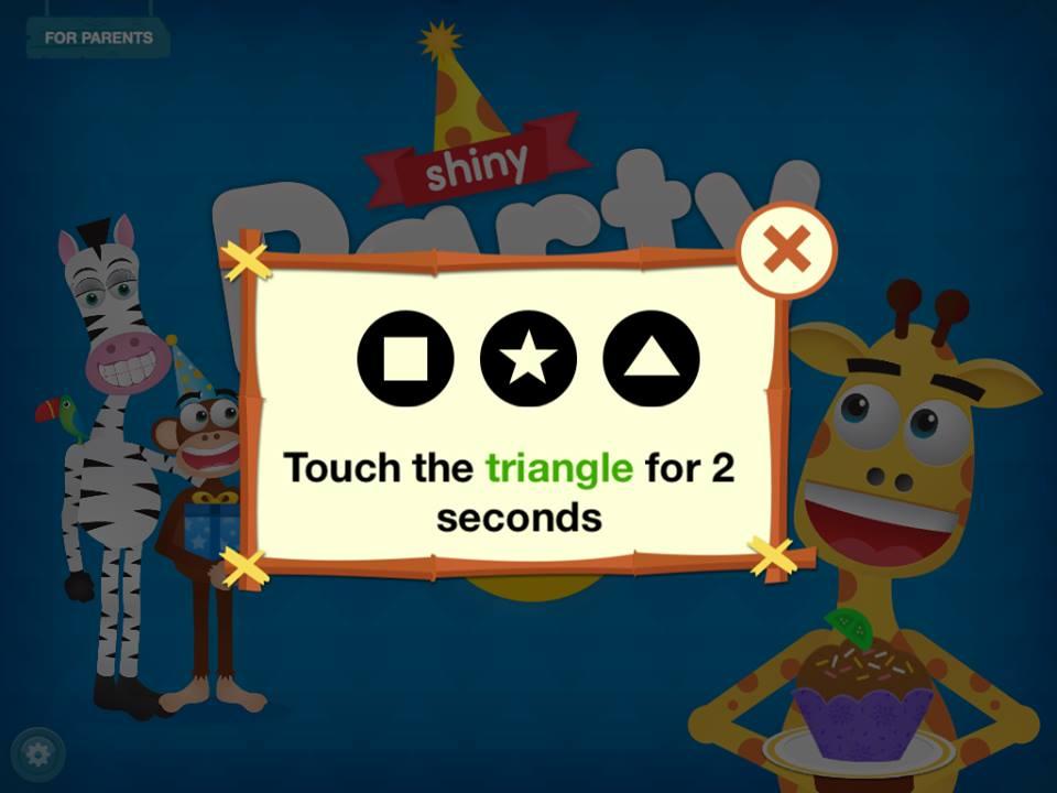Tela de verificação de idade do app Shiny Party