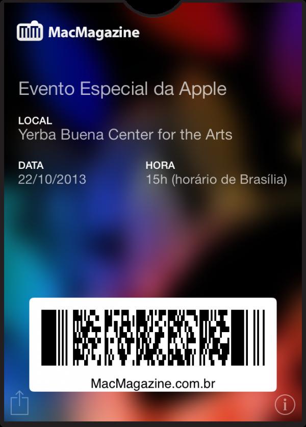 Passbook do evento especial de novos iPads