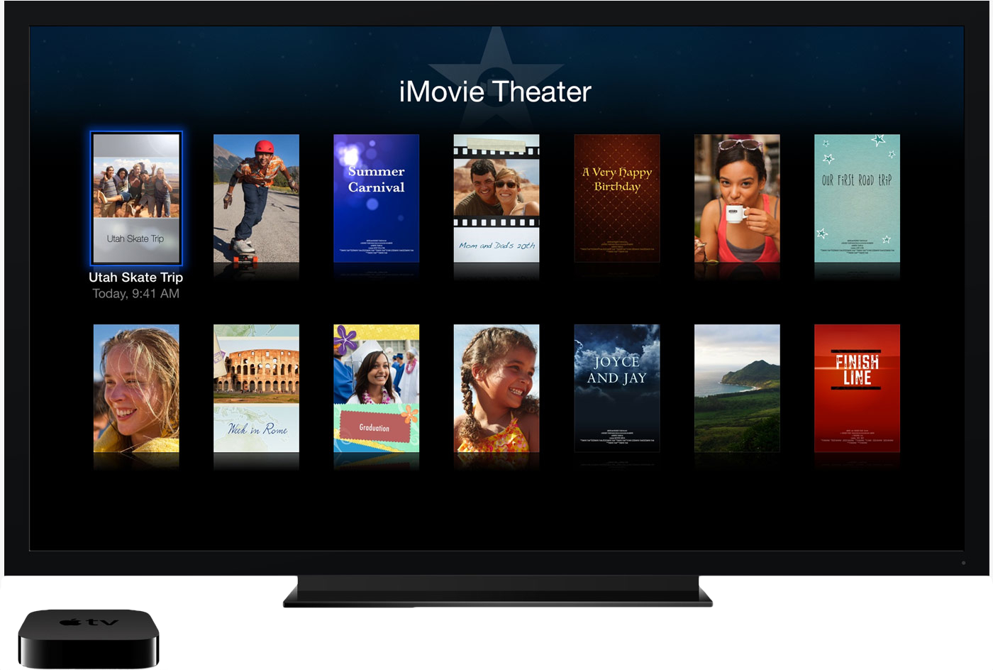 iMovie Theater na Apple TV