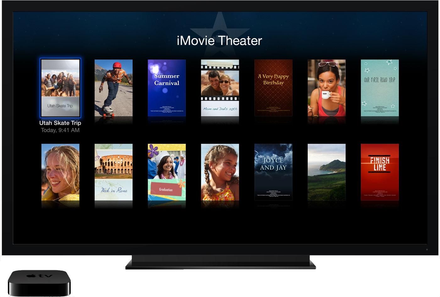 iMovie Theater na Apple TV