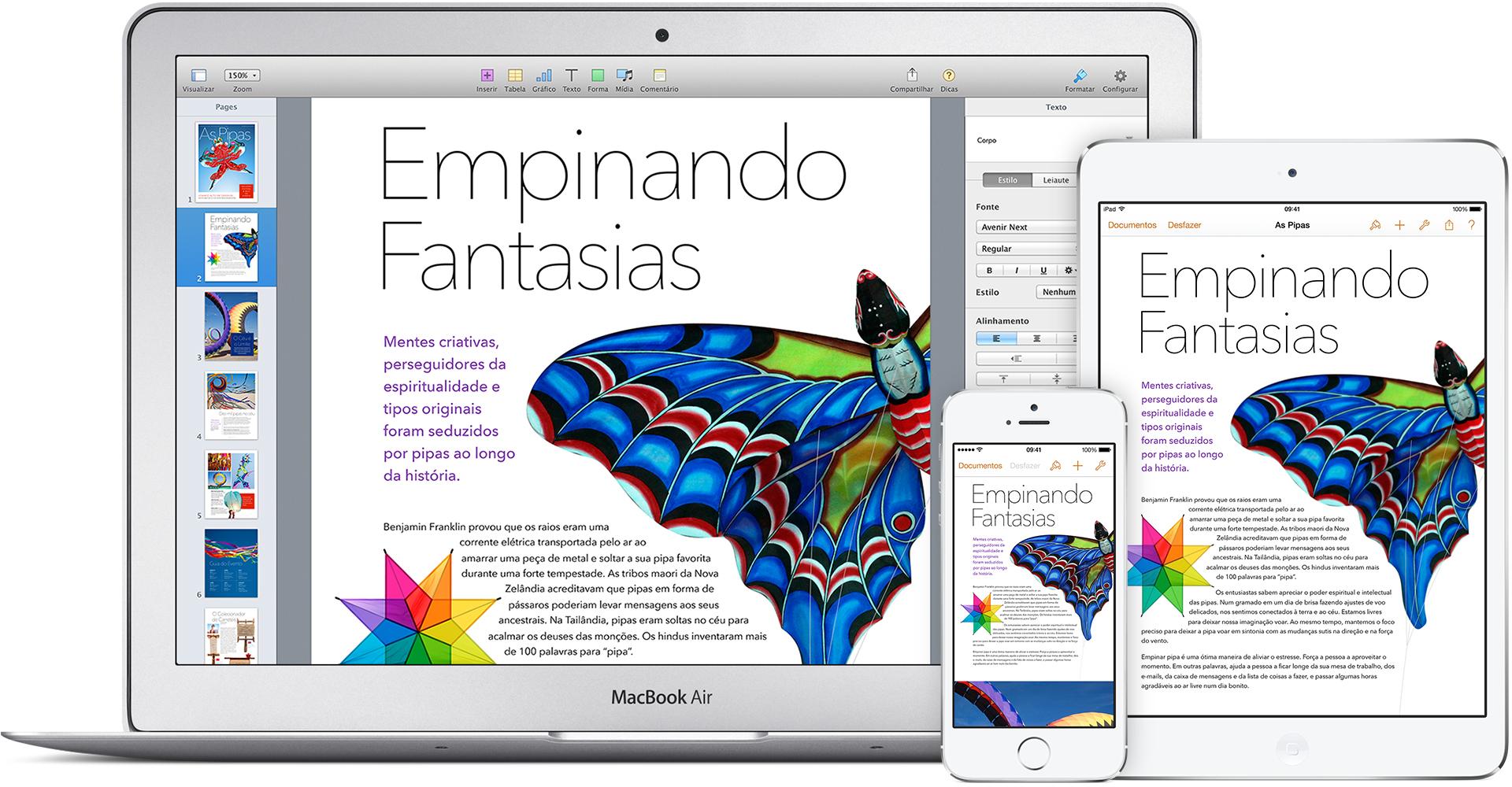iWork (Pages) para iOS e OS X