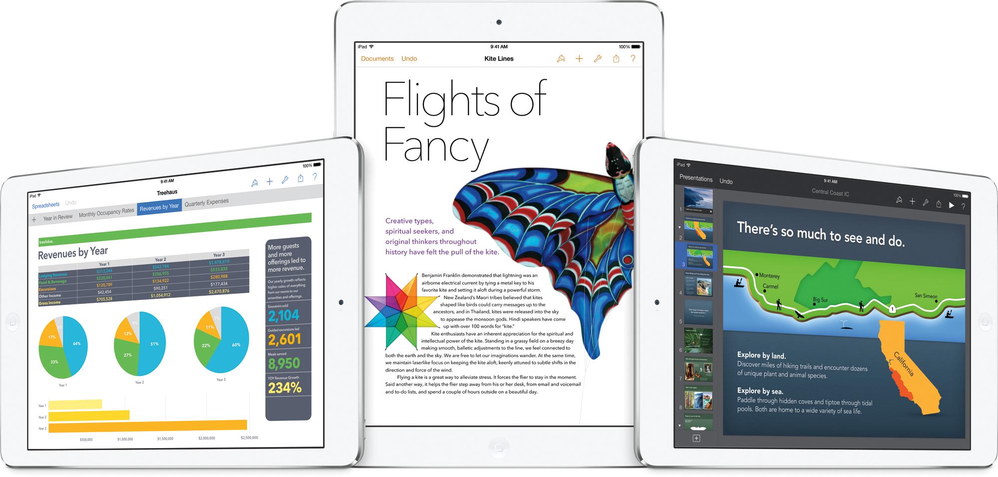 Nova suíte iWork em iPads