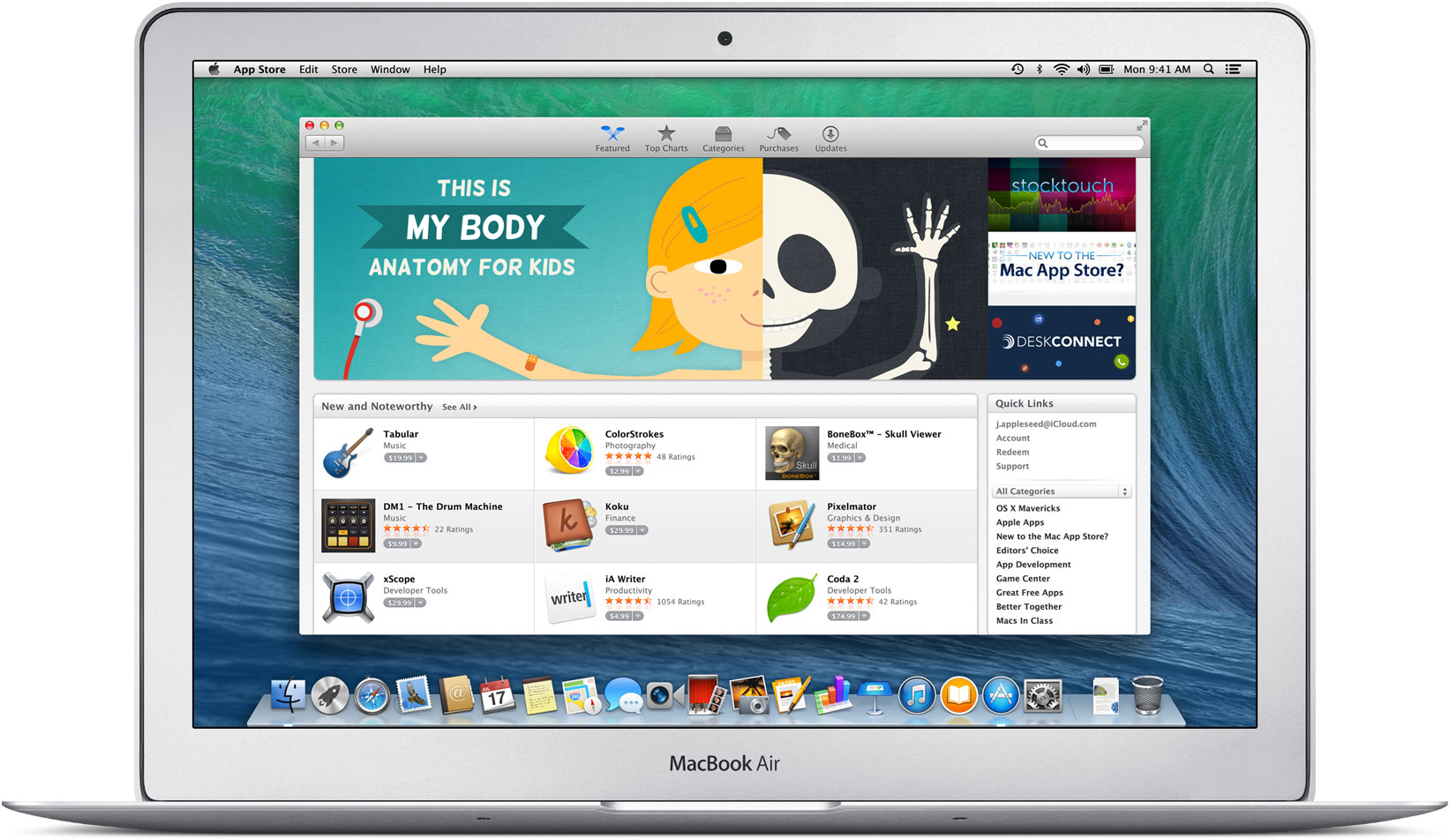 Mac App Store num MacBook Air