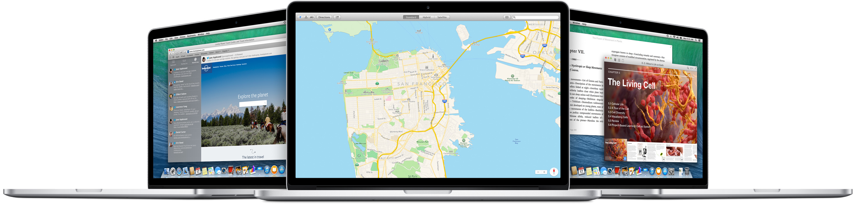 OS X Mavericks rodando em MacBooks Pro Retina