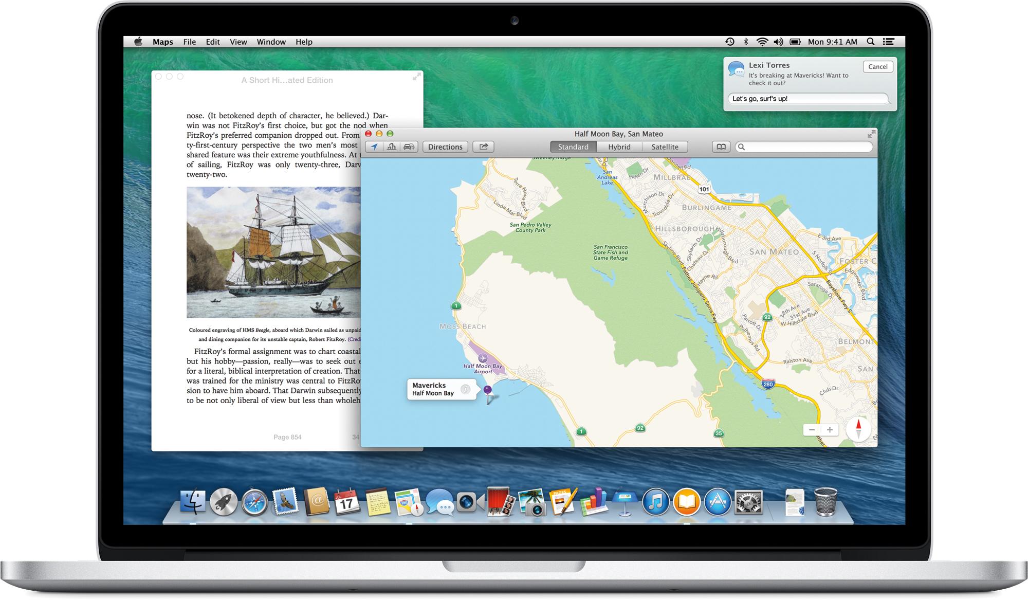 OS X Mavericks num MacBook Pro com tela Retina