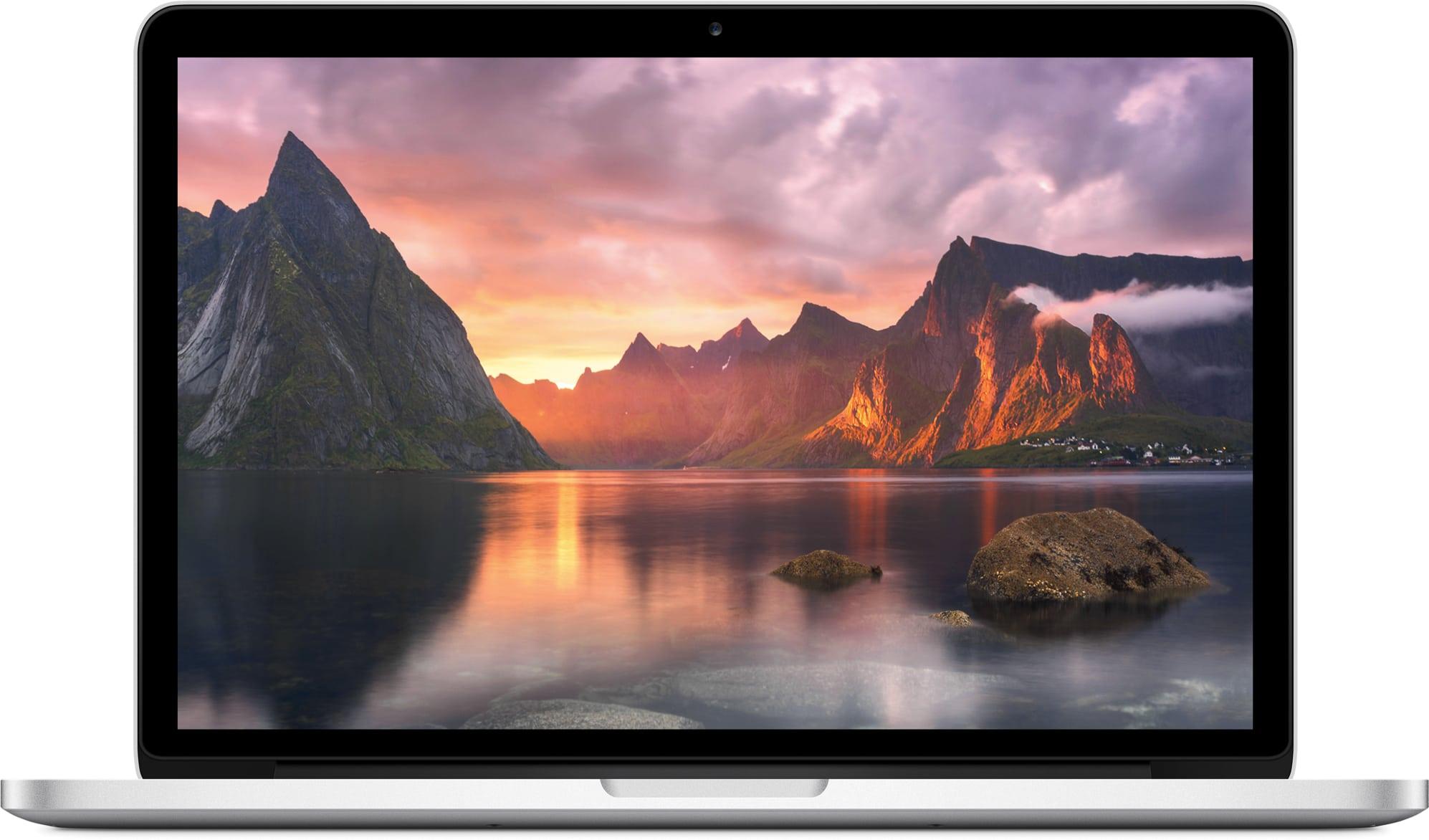 MacBook Pro com tela Retina de 13 polegadas de frente
