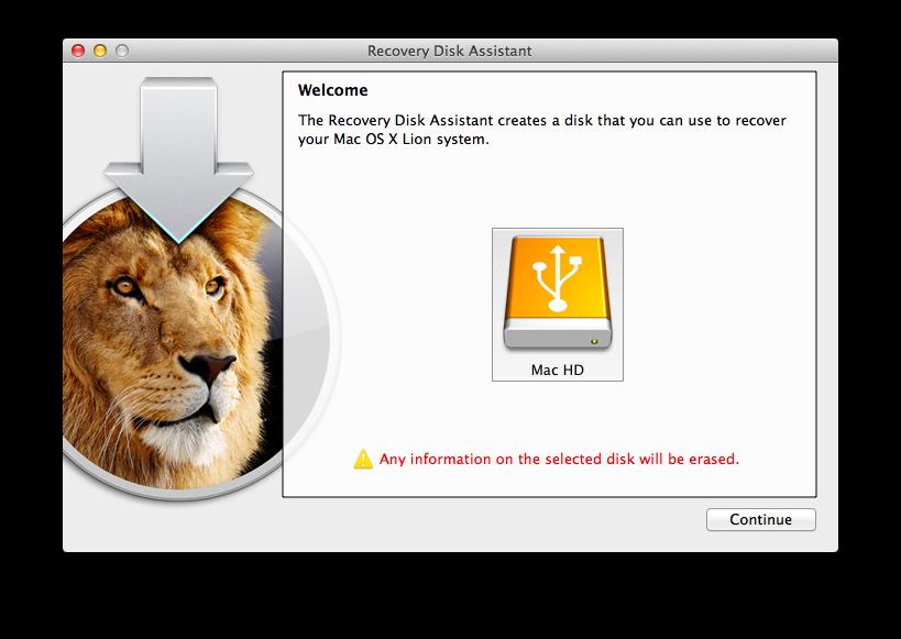 OS X Recovery Setup