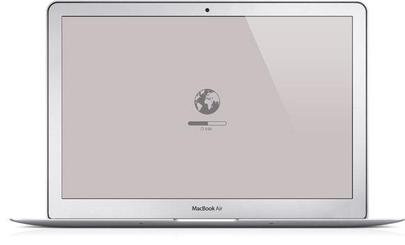 OS X Recovery Online em um MacBook Air
