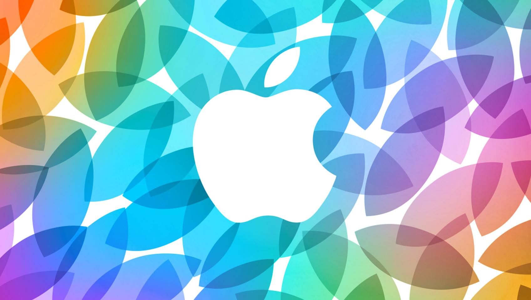 Arte do evento especial de outubro da Apple com pétalas
