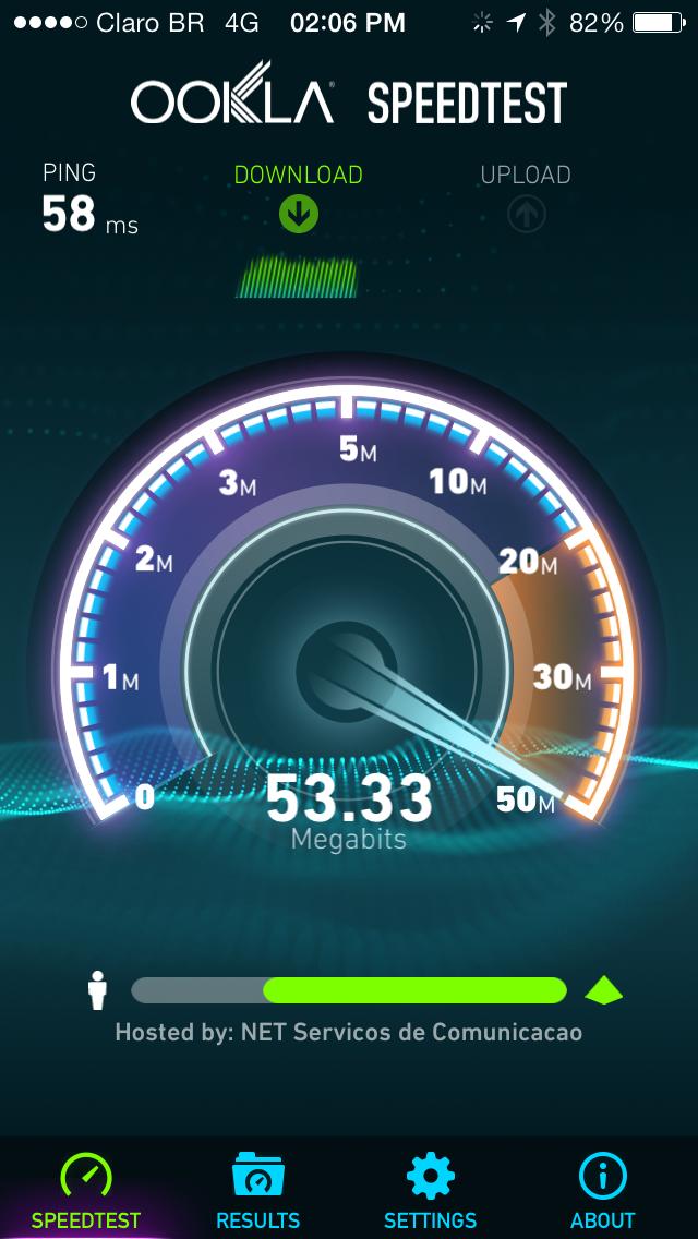 Teste de 4G da Claro