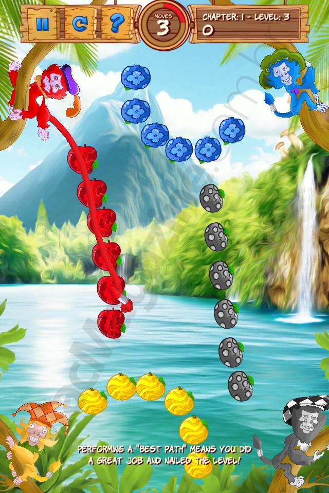 Jogo Fruits'n Tails para iOS