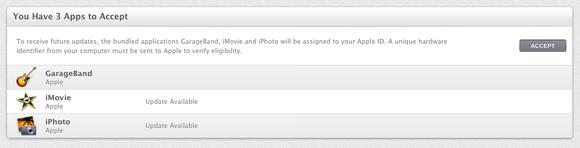 Migração de licenças do iLife no OS X Mavericks