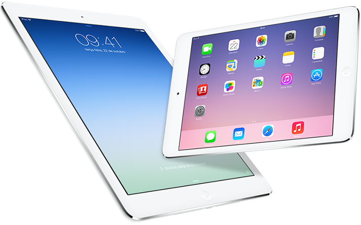 iPad Air e iPad mini com tela Retina