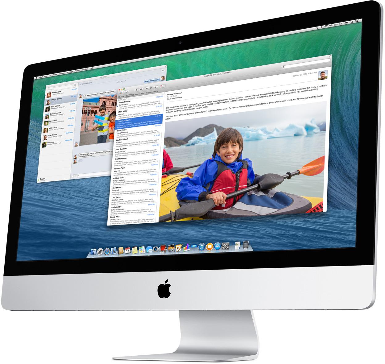 OS X Mavericks rodando num iMac