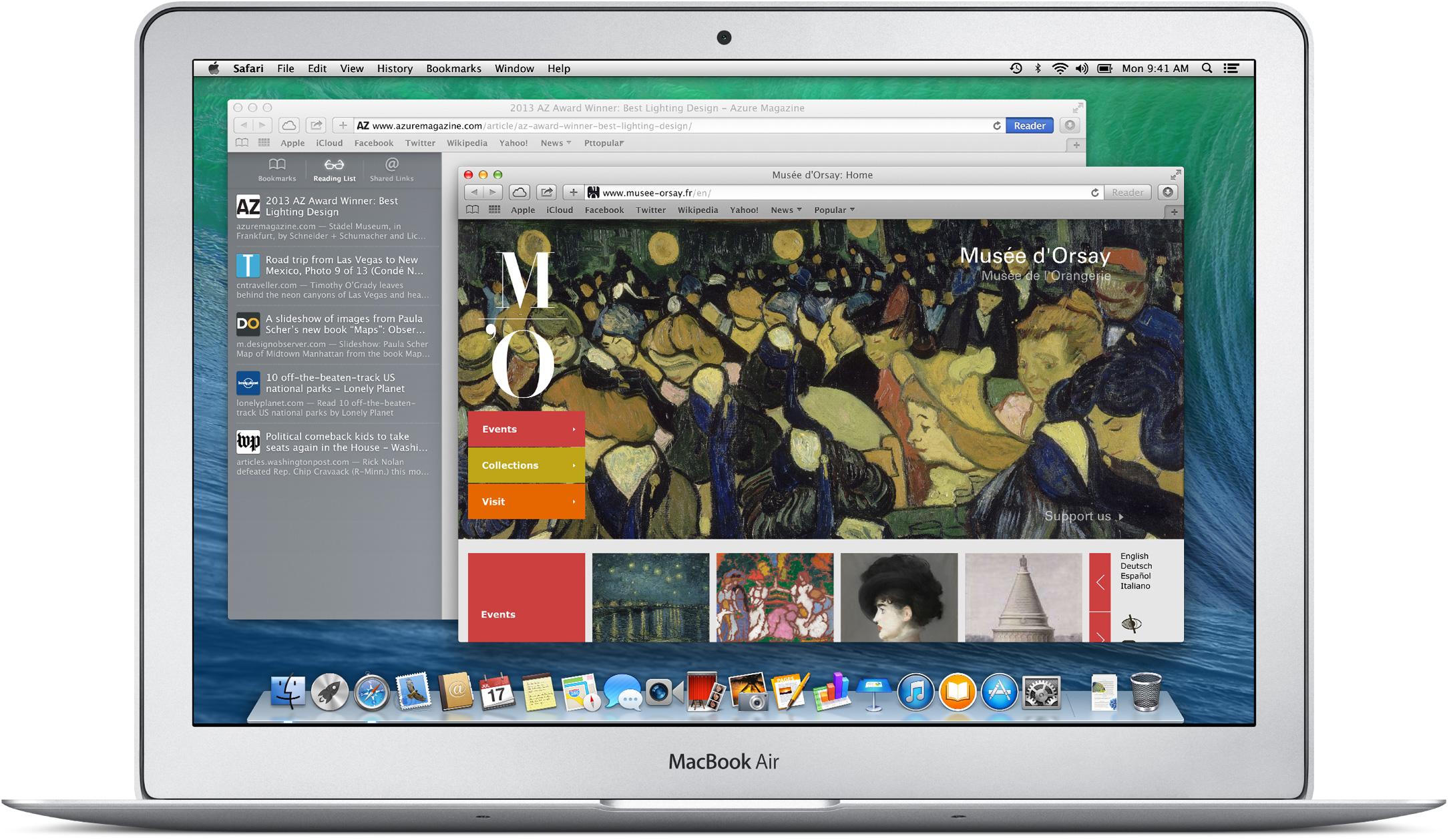 Safari no OS X Mavericks