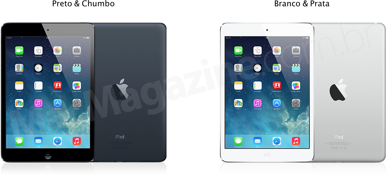Cores do iPad mini (antes)