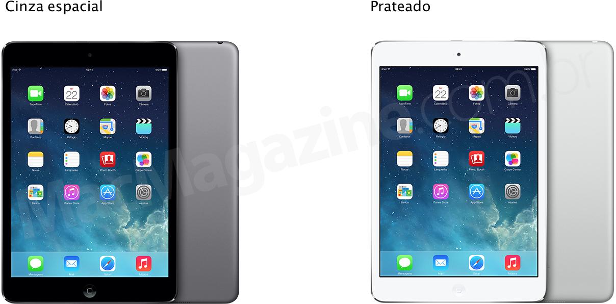 Cores do iPad mini (depois)