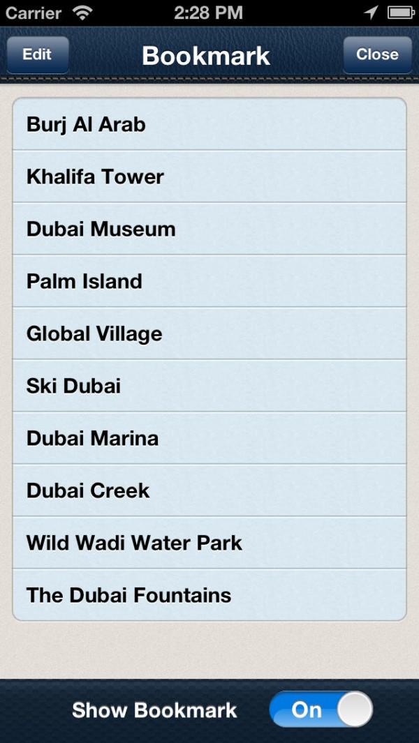 Dubai Mapa Offline