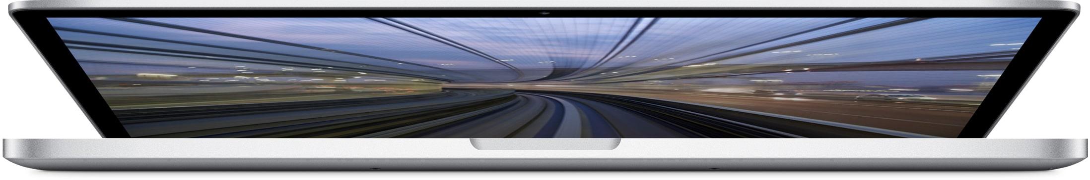 MacBook Pro com tela Retina (fim de 2013) aberto