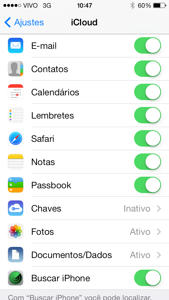 Chaves iCloud