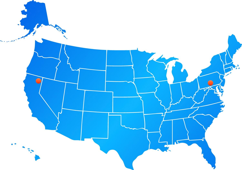 Mapa com localidades de centro de reparos AppleCare