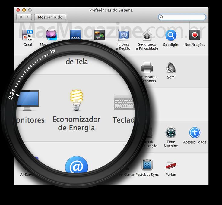 Economizador de Energia no OS X Mavericks