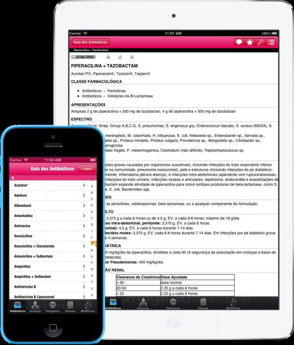 App Guia dos Antibióticos para iOS