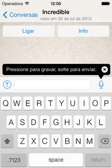 WhatsApp Messenger para iPhones (iOS 7)
