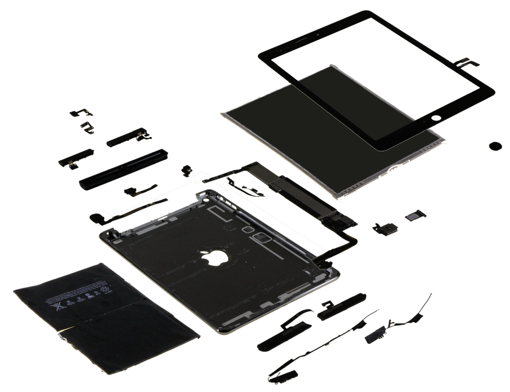 iPad Air desmontado pela IHS