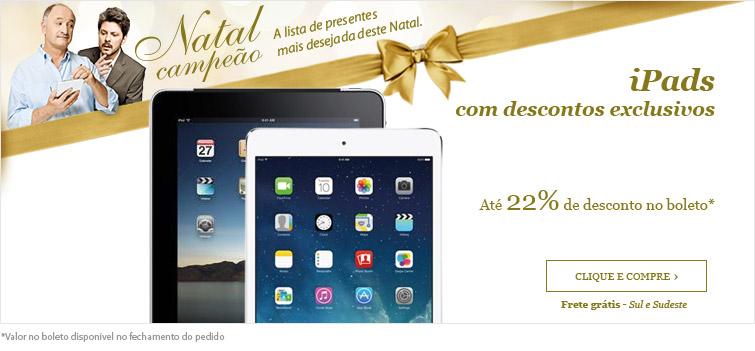 Oferta de iPads na Fast Shop