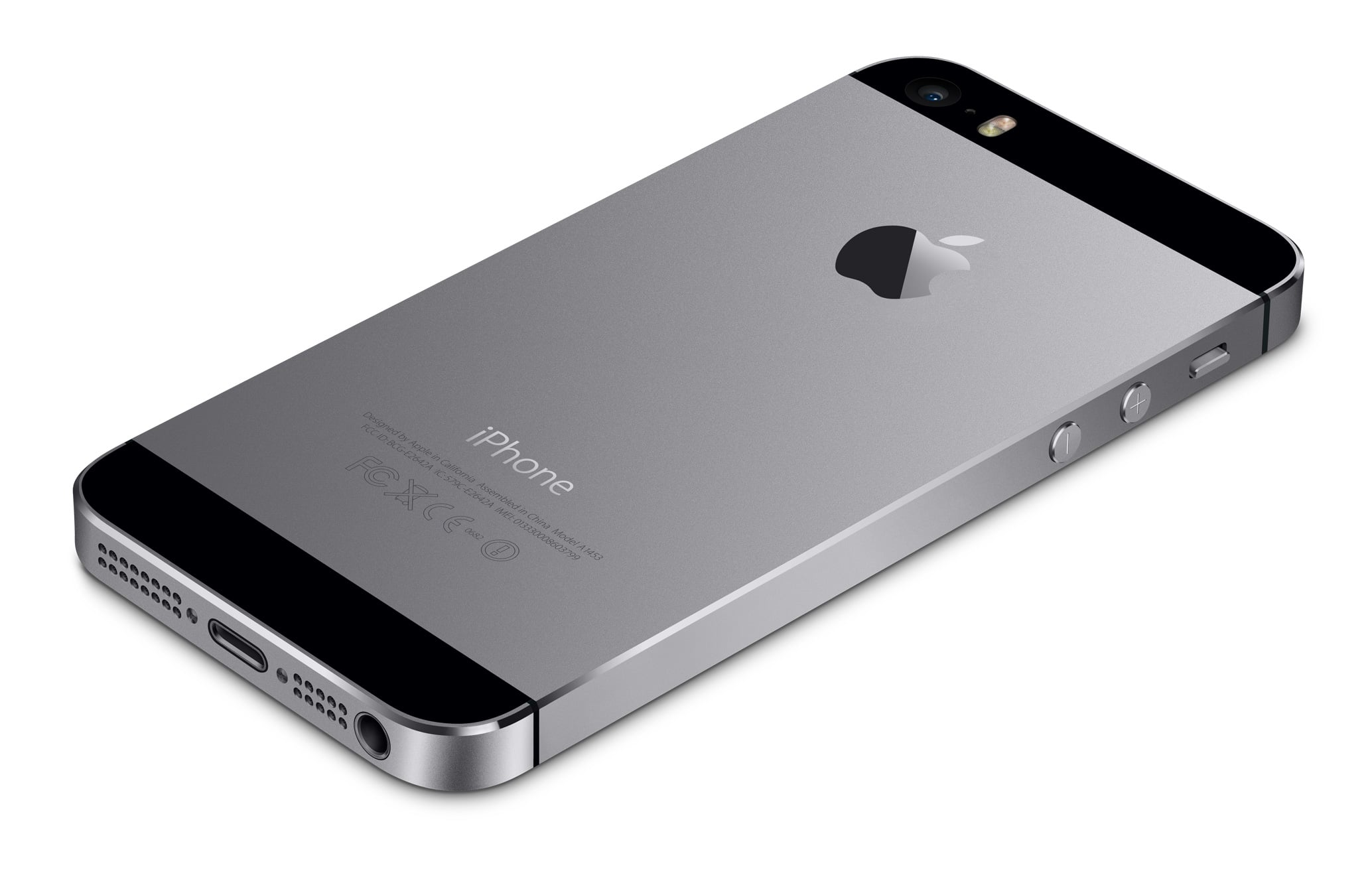 iPhone 5s cinza espacial de costas