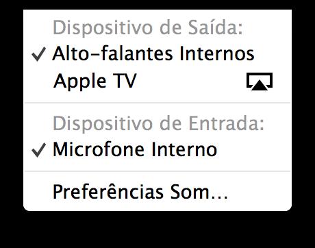 Transmitindo o áudio de Macs via AirPlay