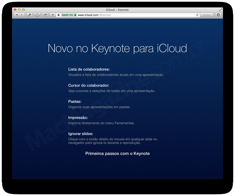 Novidades no iWork para iCloud