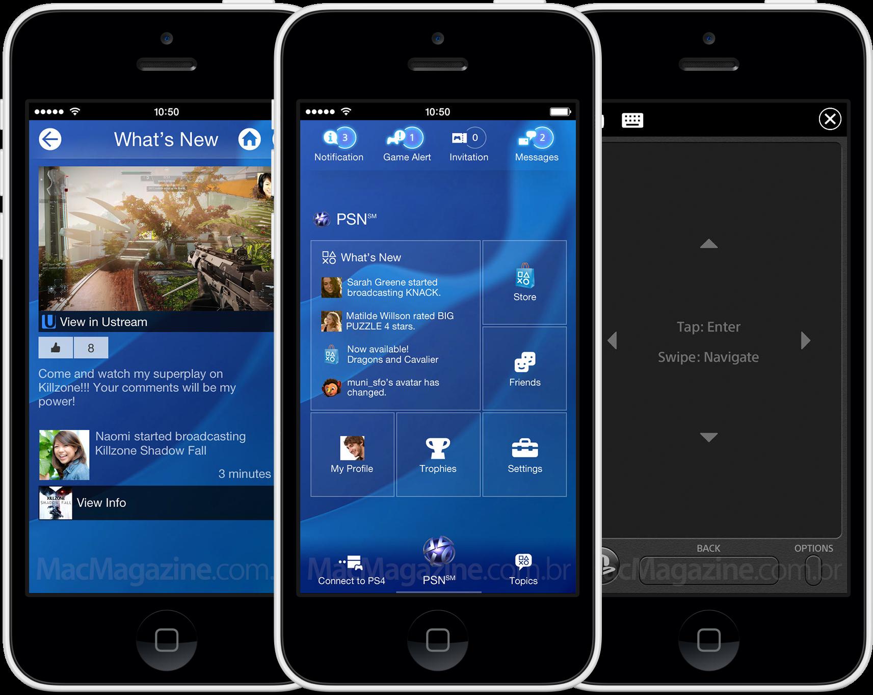 PlayStation App em iPhones