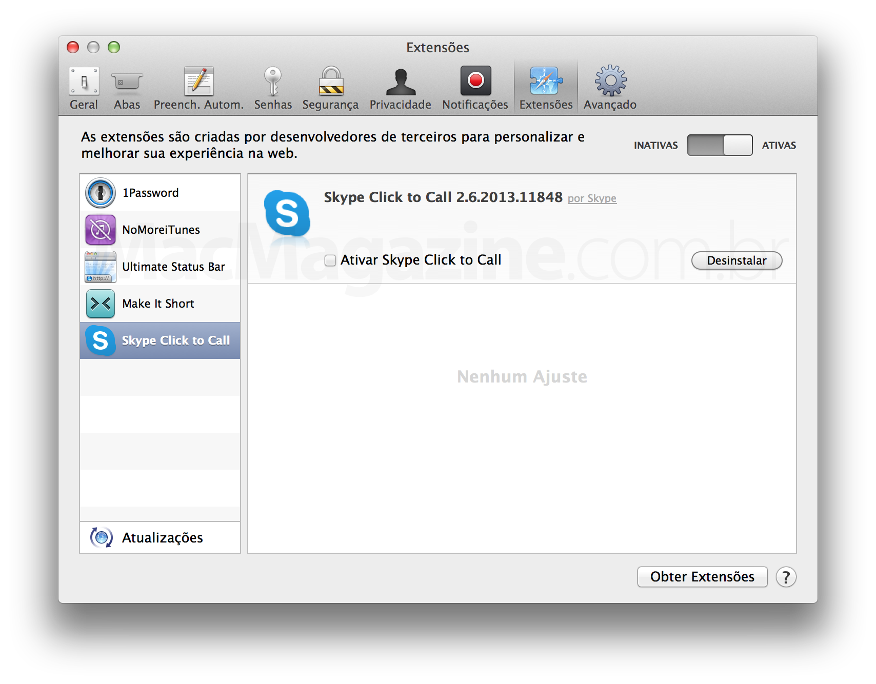 Plugin Click to Call, do Skype