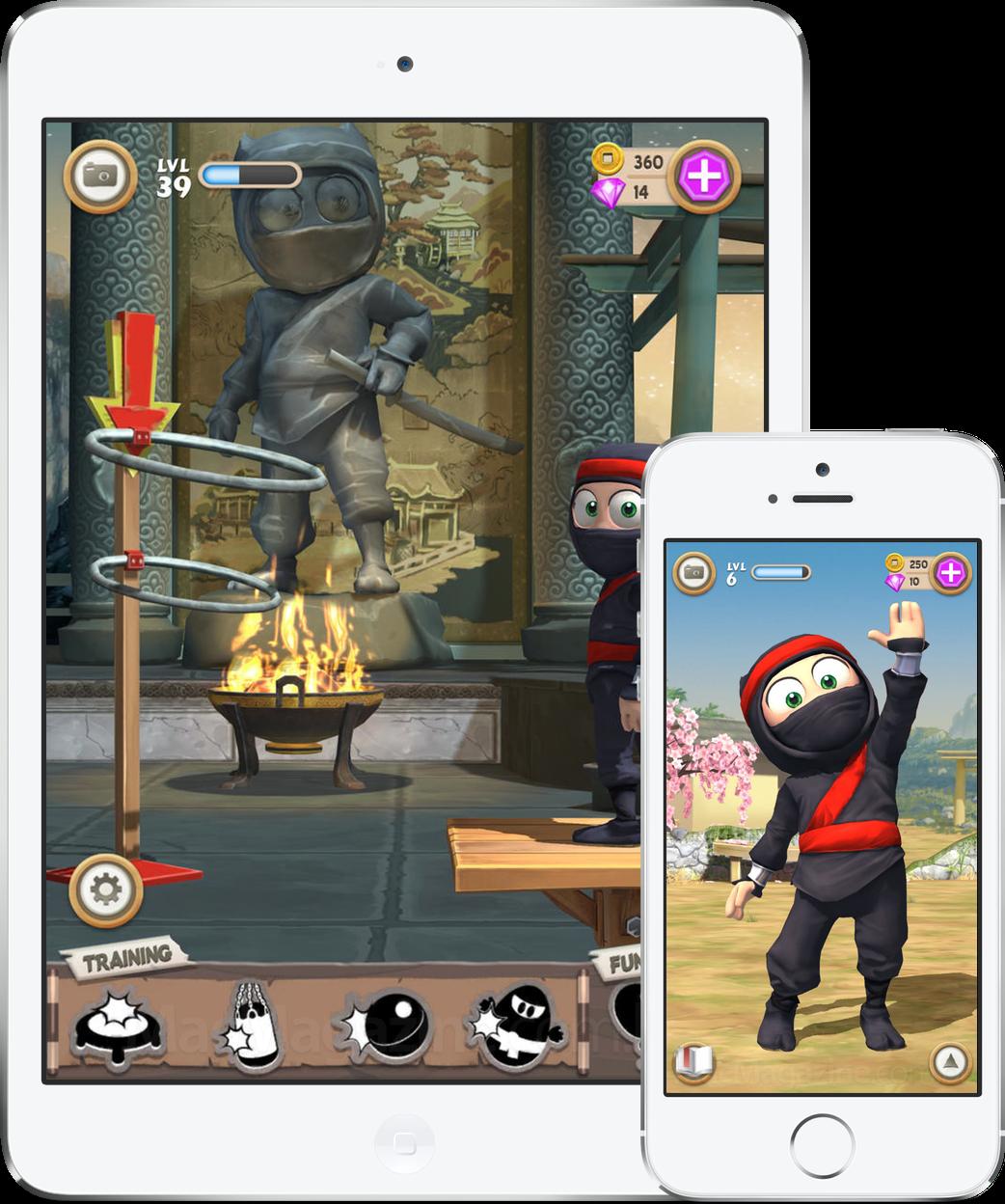 Jogo Clumsy Ninja para iOS