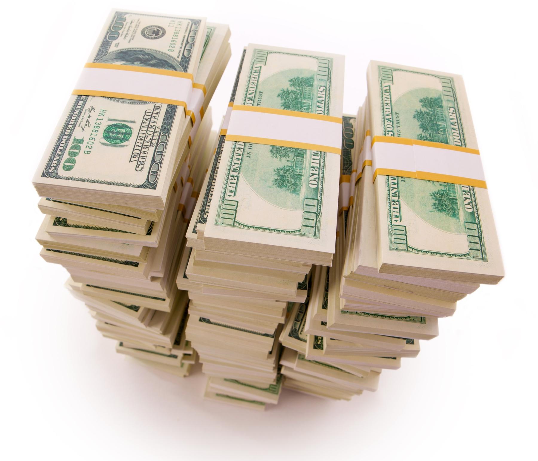 Pilha de dinheiro (dólar)