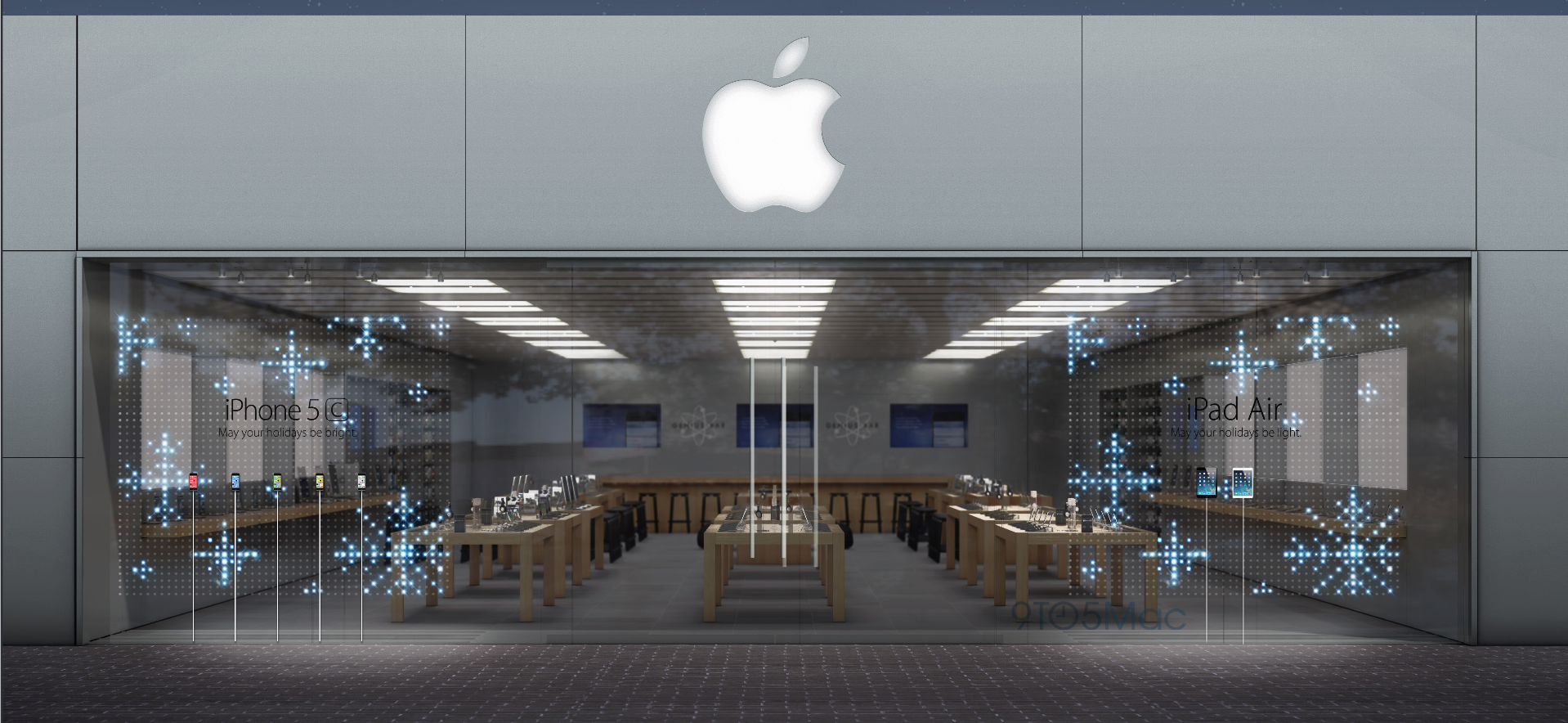 Render de nova vitrine da Apple