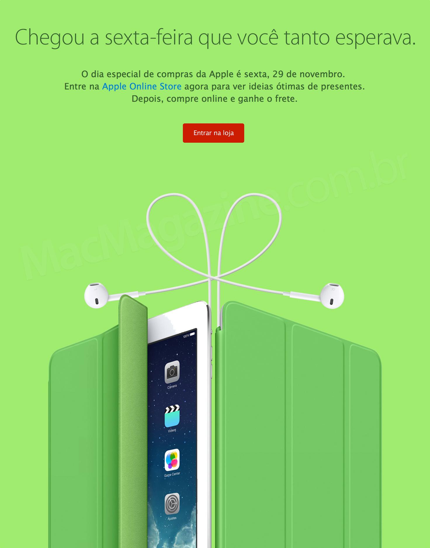 Dia especial de compras na Apple Online Store brasileira