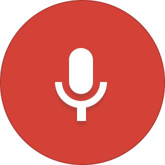 Ícone da busca por voz no Google Chrome