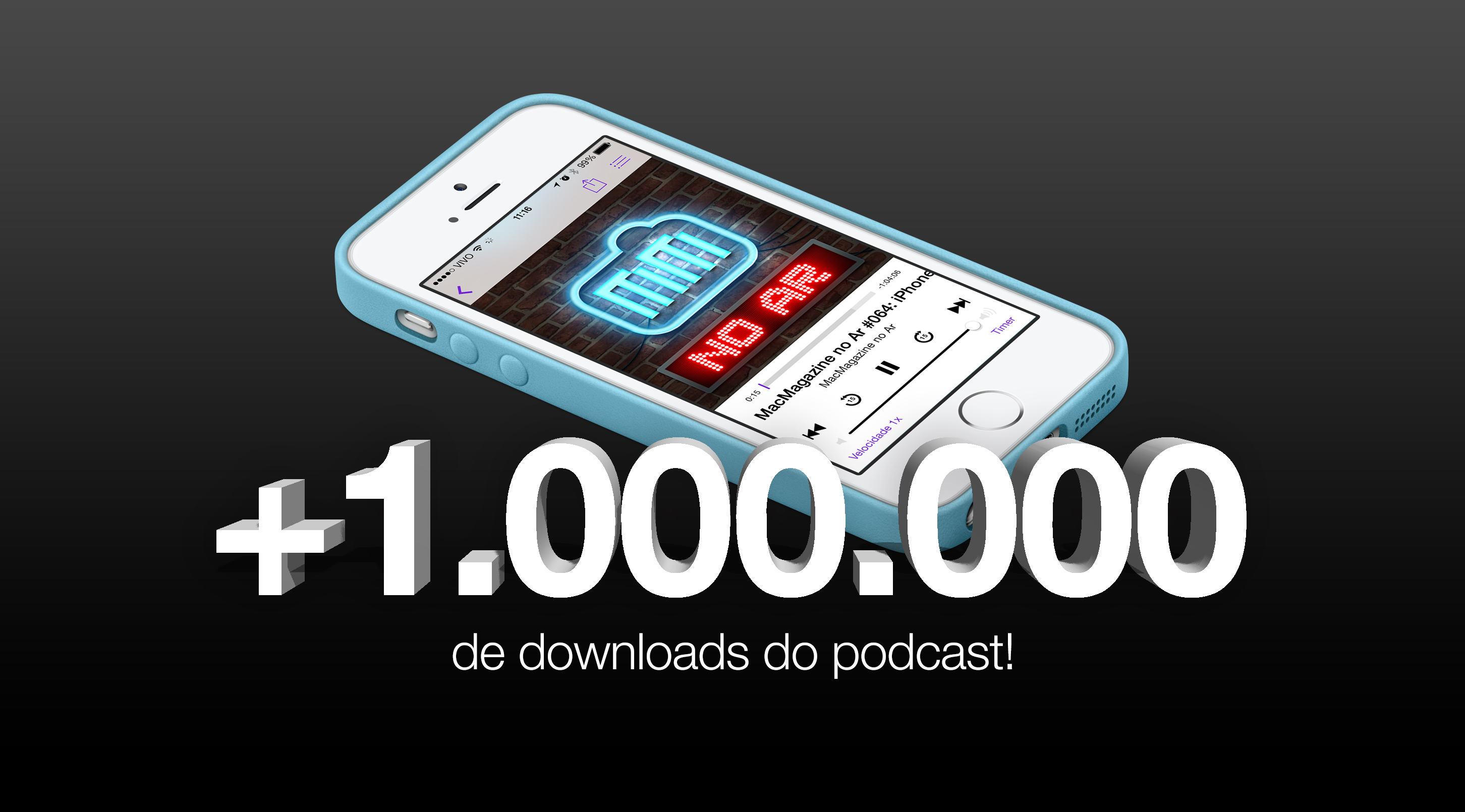 1.000.000 de downloads do podcast - MacMagazine no Ar