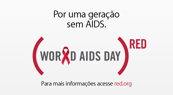 Destaque sobre a AIDS no Apple.com