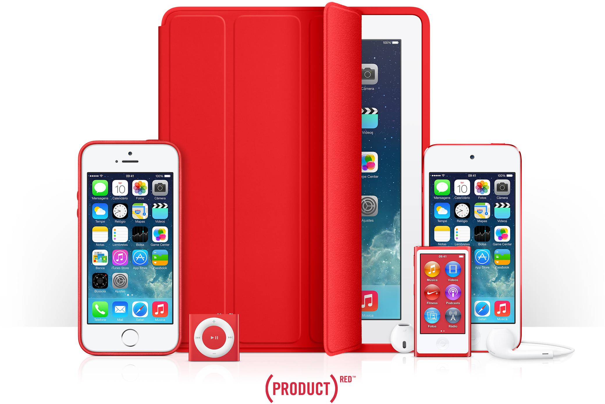 Produtos da Apple que participam do programa (RED)