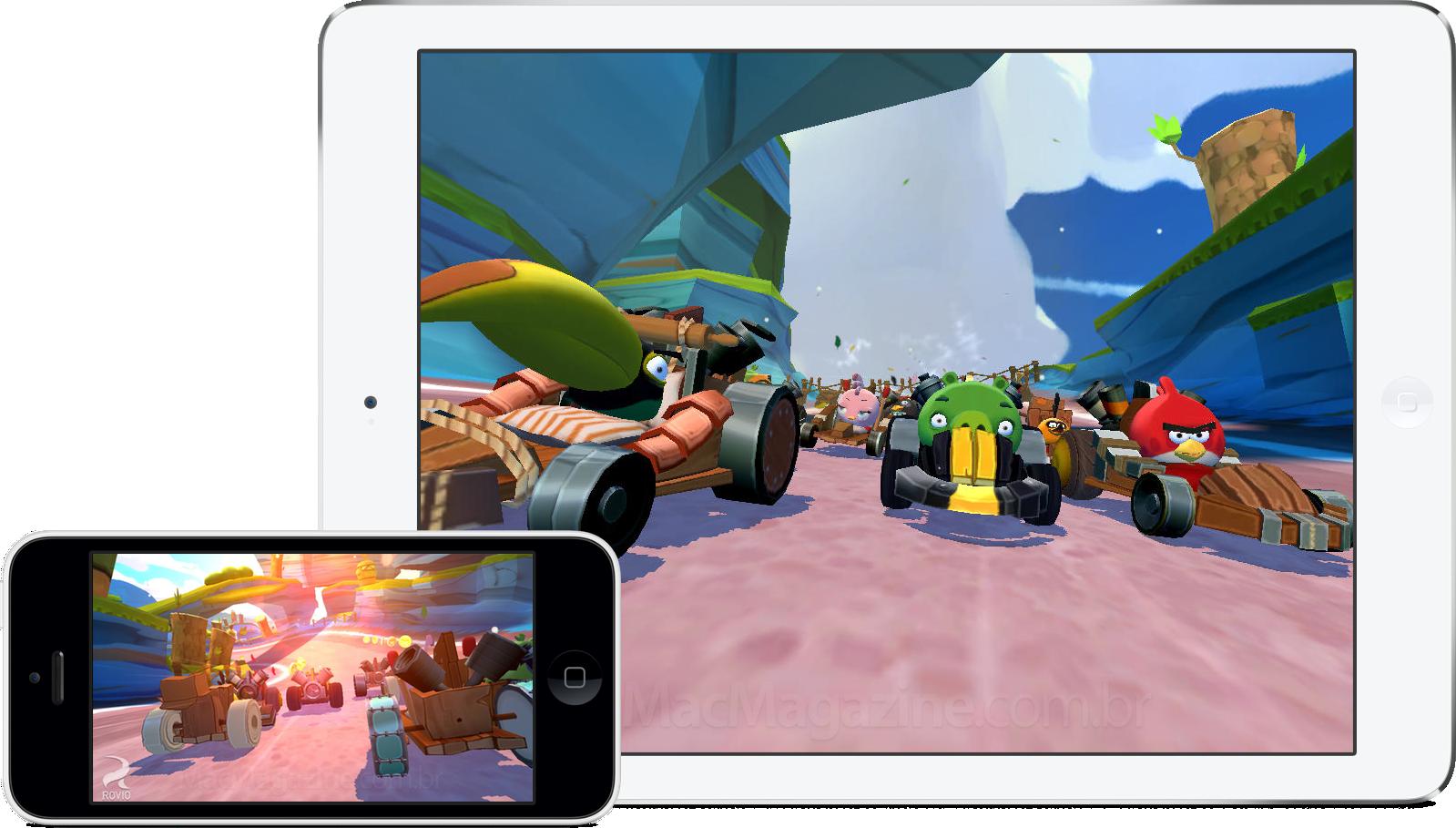 Jogo Angry Birds Go! para iOS