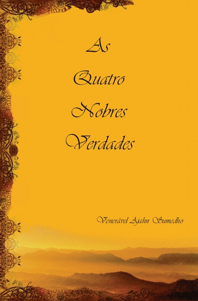 """Capa do livro """"As Quatro Nobres Verdades"""""""