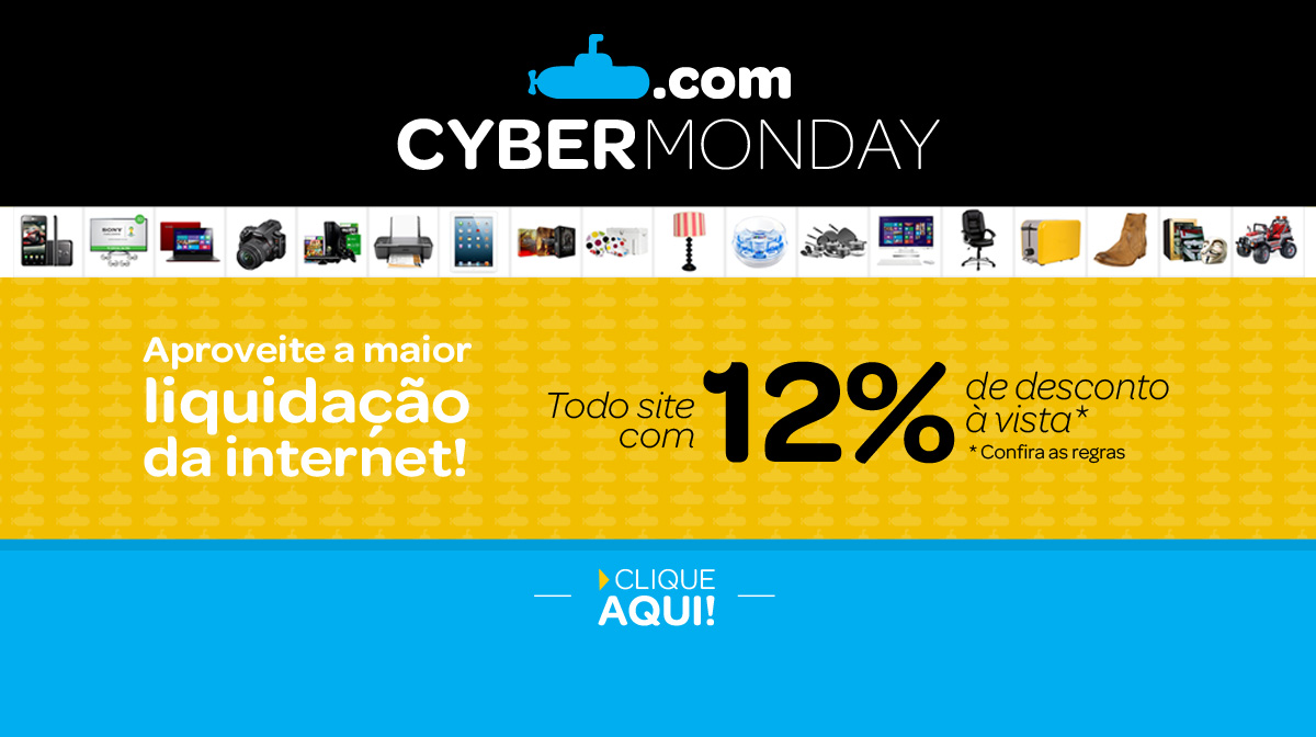 """Cyber Monday"" no Submarino"