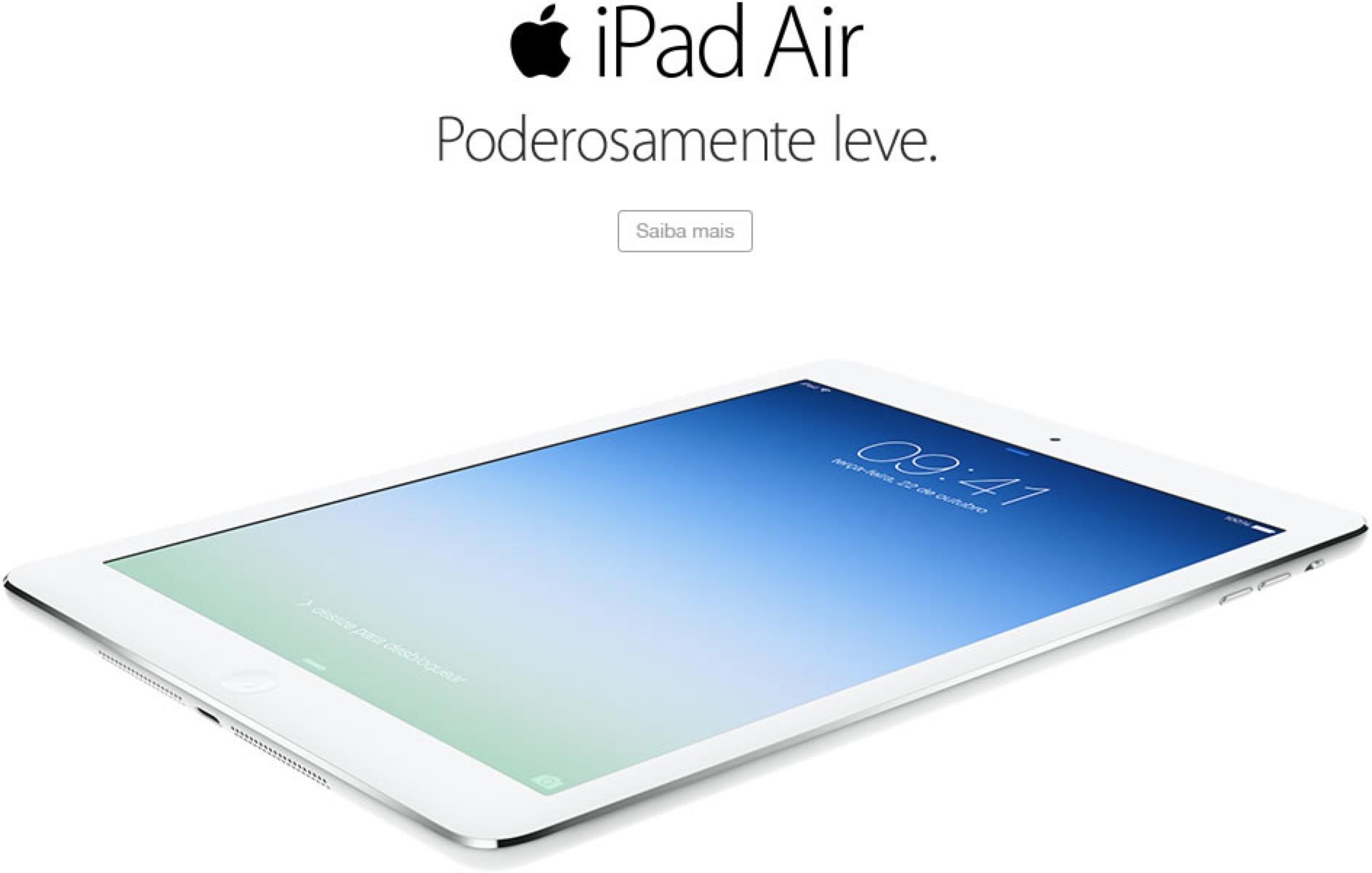 Divulgação do iPad Air